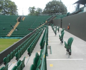 wheelchair spaces at a sports ground