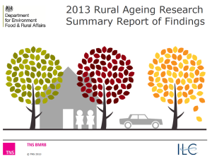 Rural aging research