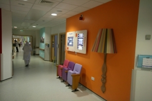 Example of corridor at Bradford Hospital NHS Trust
