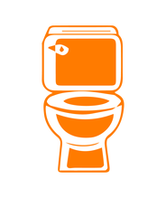 orange toilet logo