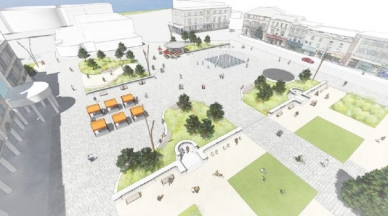 artists impression of Town Square Weston-super-Mare